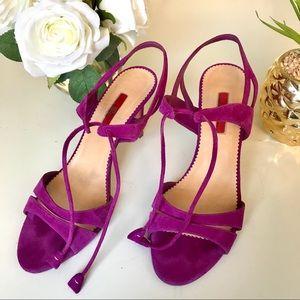 Carolina Herrera Suede Strappy Heels Size 39